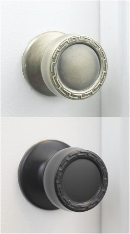 Easily Update Old Door Knobs with Spray Paint