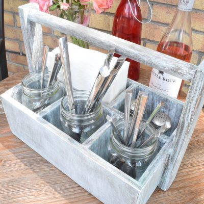DIY Wood Utensil Caddy