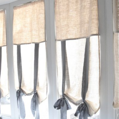 Easy DIY Tie-Up Shades – More Budget Friendly Then Buying