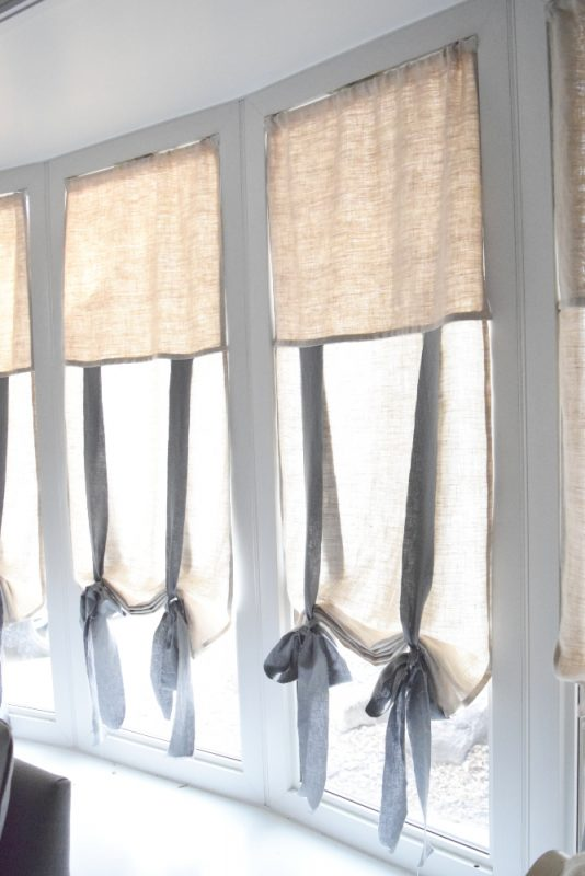 Easy DIY Tie-Up Shades
