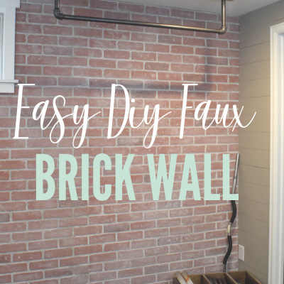 DIY Faux Brick Wall – Easy, Budget Friendly Way to Add Character