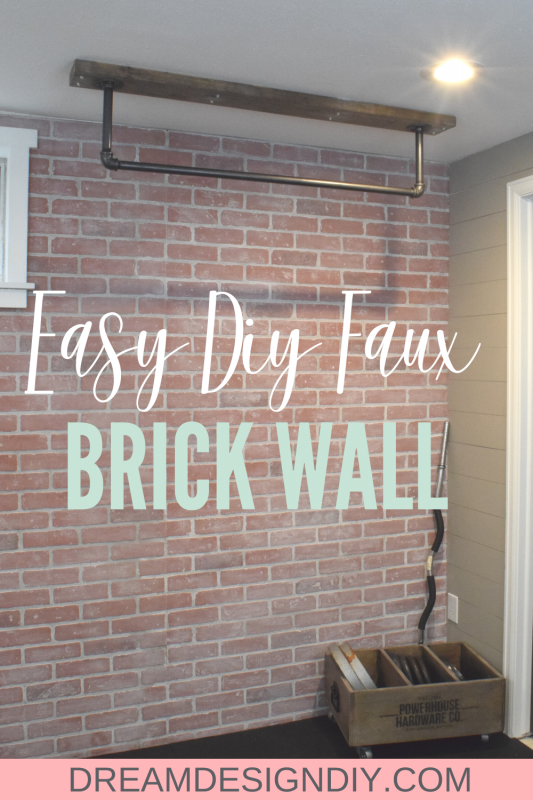 Easy DIY Faux Brick Wall