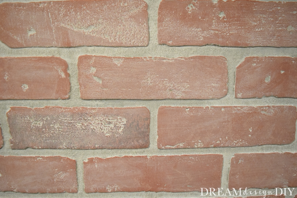 Add rustic, aged or farmhouse charm to faux or real brick, wood and furniture with this easy whitewash technique. This is an easy DIY using a mix of two simple items. #whitewash #diy #brick #fauxbrick