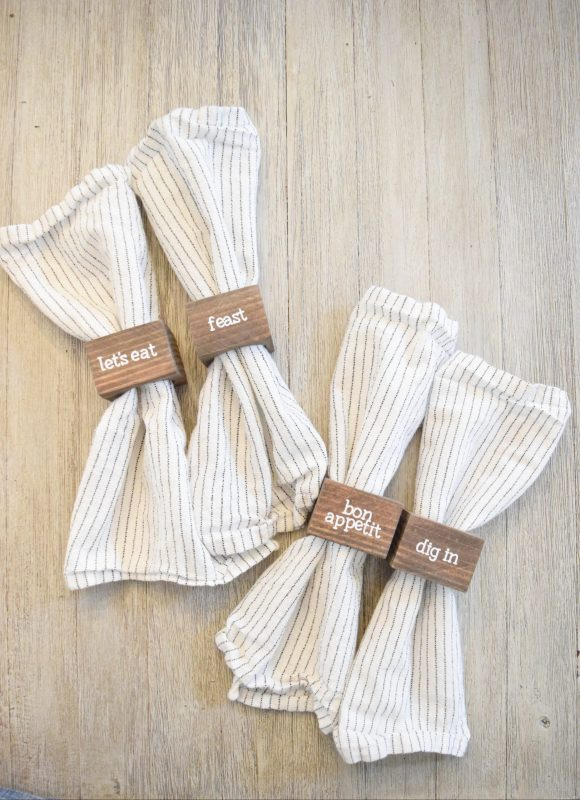 Easy DIY Wood Napkin Rings