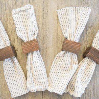 Easy DIY Wood Napkin Rings