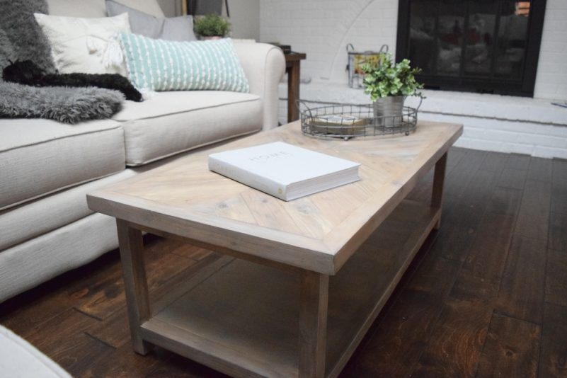 How to Build a Coffee Table with Chevron Pattern