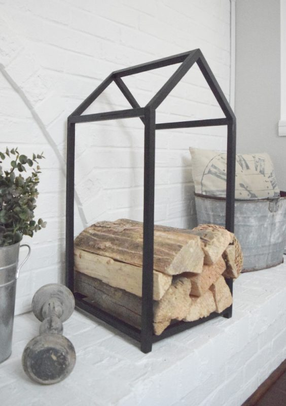DIY Modern Firewood Holder – A Sexy Way to Hold Your Logs