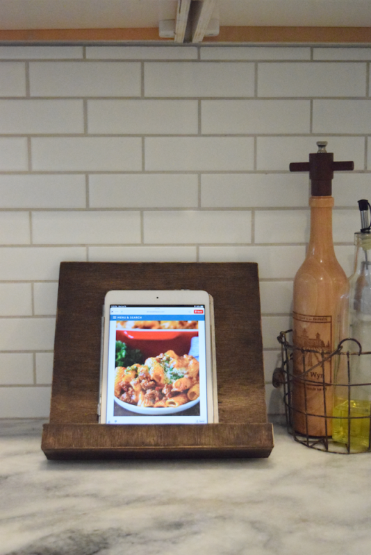 DIY Tablet Cookbook Stand – The Cure For Recipe Making Chaos