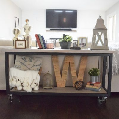 DIY Console Table with Optional Chevron Pattern