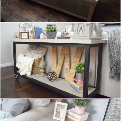 DIY Matching Set of Four Living Room Tables for $160