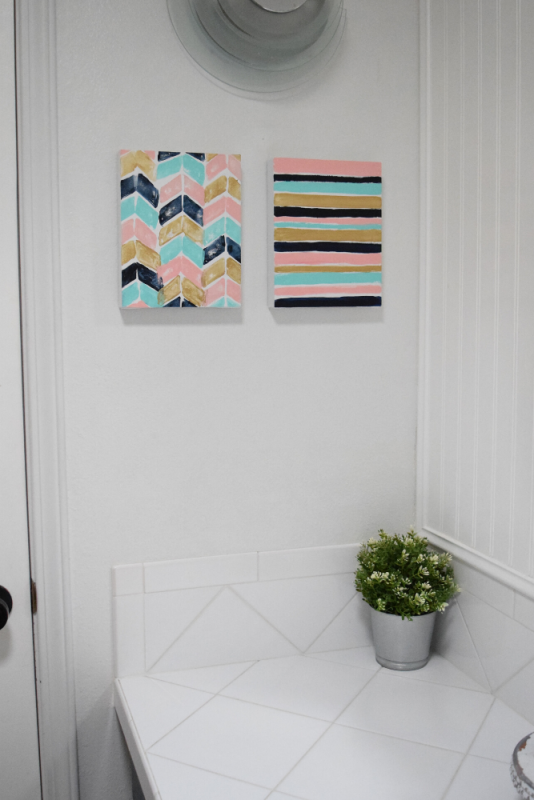 Easy DIY Recycled Canvas Art – How to Make Cheap Wall Art