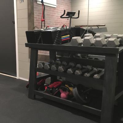 DIY Weight Rack With Optional Power Blocks Holder