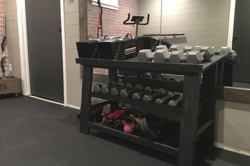 DIY Weight Rack With Optional Power Blocks Holder